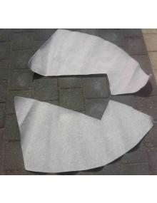 Garnitures de passage de roue 2cv en feutrine gris clair