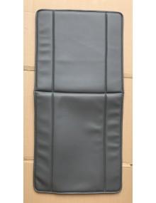 Garniture de siège 2cv fourgonnette en  skai gris avec rabat à l'arrière du dossier