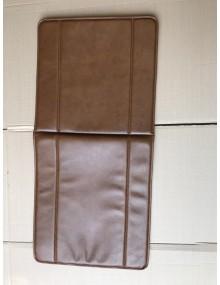 Garniture de siège 2CV AZU en Skai marron clair avec rabat sur l'arrière du dossier