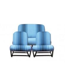 Ensemble de garnitures rayées bleues  siège symétriques pour 2cv et Dyane*