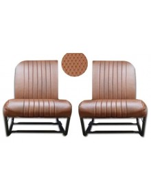 Jeu de 2 garnitures de sièges avant dossiers asymétriques en targa marron SUR COMMANDE