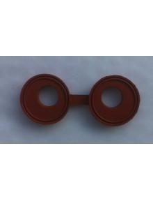 Joint à lunettes amélioré de tube enveloppe 2cv dernière génération en Viton orange