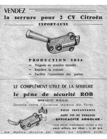 Le pène de sécurité ROB pour 2cv