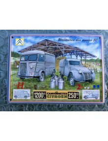 Mini carte métal utilitaires Citroën