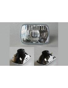 Optique de phare rectangulaire 2cv montage cuvelage métal