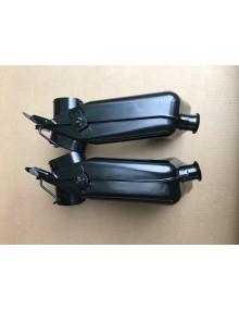 Paire d'échangeurs 2cv6 peints en noir
