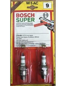 Paire de bougies Bosch W5AC 2cv
