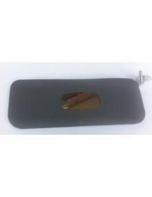 Pare soleil adaptable droit  gris foncé avec miroir de courtoisie longueur et support longueur 35 cm