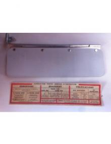 Pare soleil cartonné pour 2cv avant mars 1963 avec notice autocollante 2cv AZ