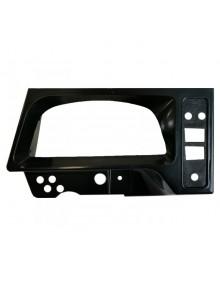 Platine en plastique noir pour compteur 2cv grand modèle occasion attention traces d'usure vendue sans interrupteurs