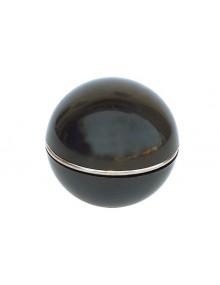 Pommeau de levier de vitesse noir, avec bague enjoliveuse