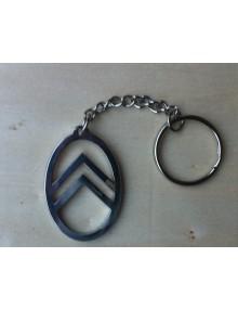 Porte clé façon ovale de calandre 2cv ancienne