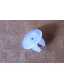 Prisonnier en plastique blanc pour la vis de fixation de joue d'aile Dyane Acadiane