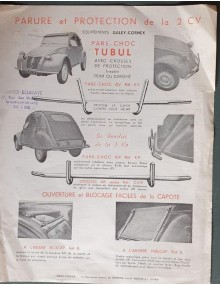 Publicité pour pare-chocs Tubul et autres équipements pour la 2cv par Galey-Cornex