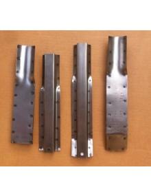 Jeu de 4 supports de planchers à souder sur châssis pour 2cv avant 1970 attention métal brut légère corrosion superficielle