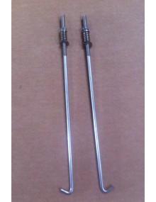 Paire de tirants de fixation de batterie 2cv avec écrous M5 et ressort longueur 24 cm
