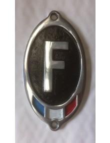 Véritable F GH vertical noir en aluminium massif avec drapeau tricolore