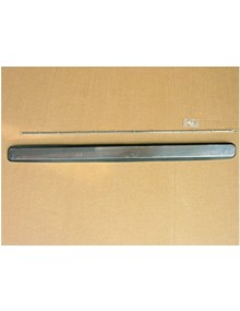 Volet d'aération inox avec joint  baguette et écrous de fixation