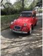 2cv6 Spécial rouge Vallelunga entièrement restaurée